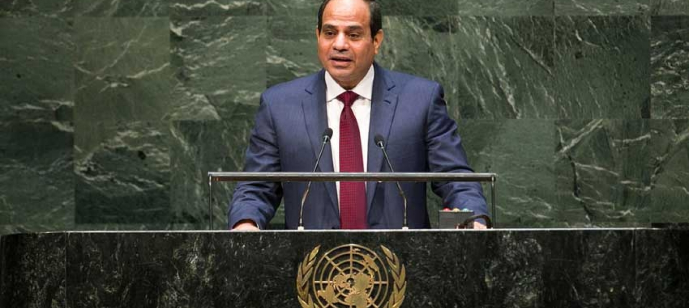 Abdel Fattah Al Sisi, President of the Arab Republic of Egypt, addresses the general debate of the sixty-ninth session of the General Assembly. UN Photo/Cia Pak