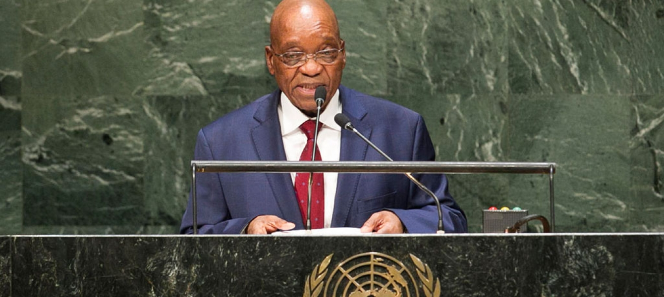 President Jacob Zuma of South Africa addresses the General Assembly. UN Photo/Cia Pak