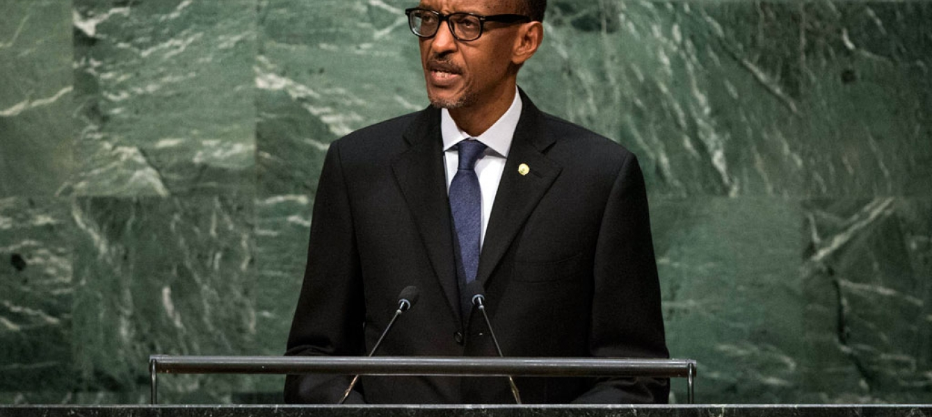 President Paul Kagame of Rwanda addresses the general debate of the General Assembly's seventieth session. UN Photo/Cia Pak