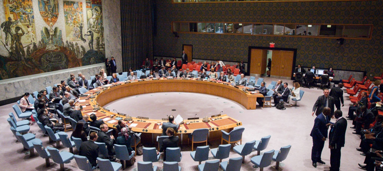 A wide view of the Security Council meeting on the situation in Mali. UN Photo/Manuel Elias