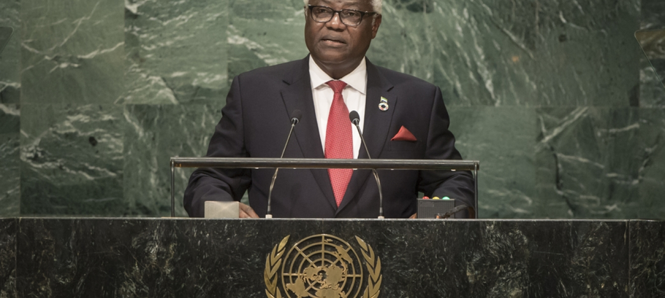 Ernest Bai Koroma, President of the Republic of Sierra Leone, addresses the general debate of the General Assembly's seventY-first session.