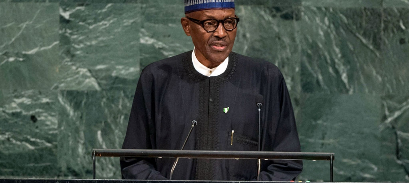 President Muhammad Buhari of Nigeria addresses the General Assembly's annual general debate. UN Photo/Cia Pak
