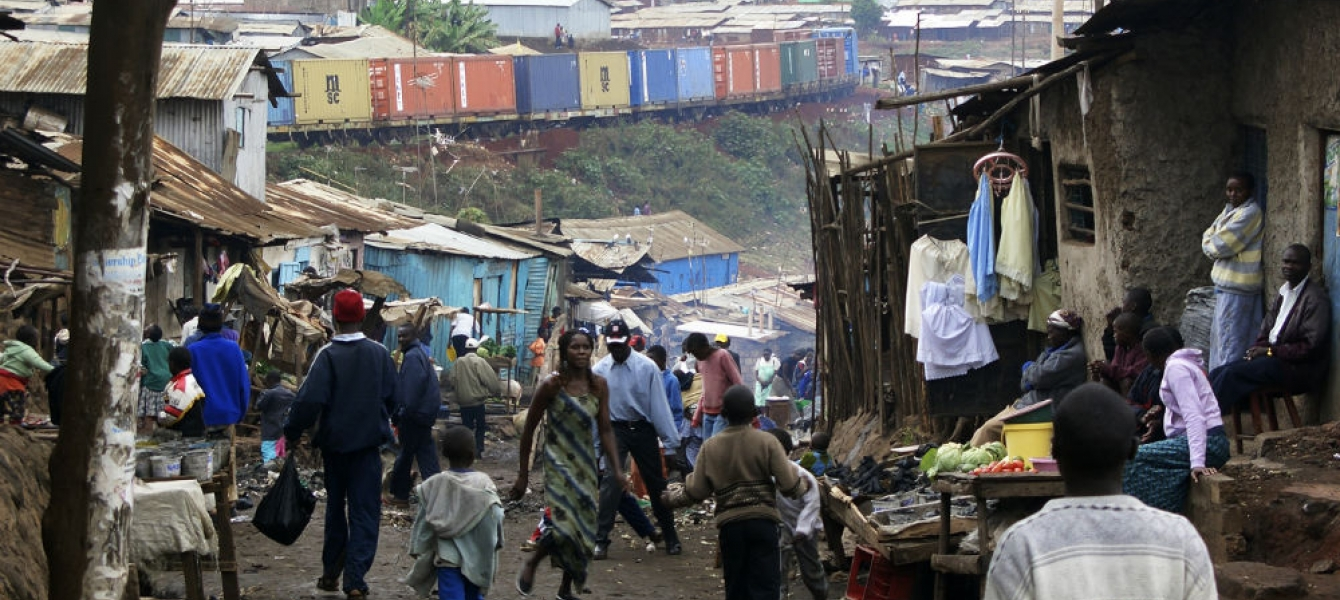 A slum in Kibera, Kenya. Poverty remains a challenge in Africa. Photo: AMO/Colin Walker