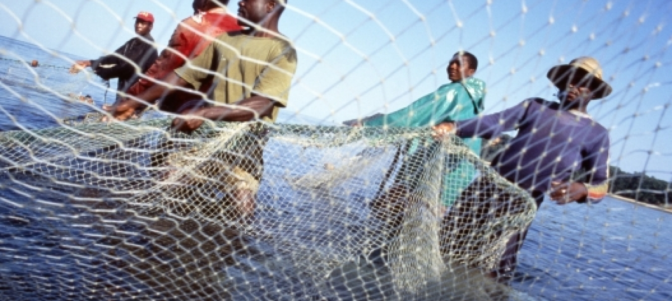 Fishermen in Inhaca Island, Mozambique.