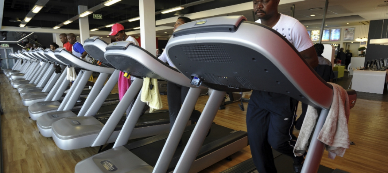 A Virgin Active gym in Soweto, Johannesburg South Africa. Photo credit: AMO/Robert Tshabalala