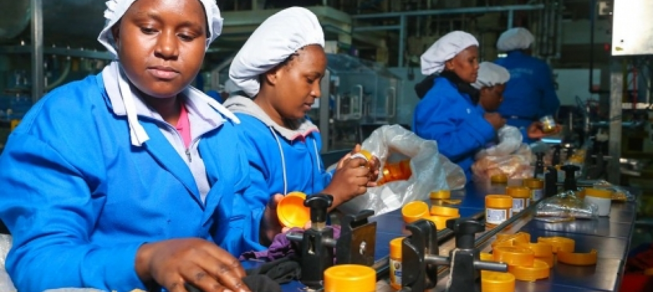 Workers producing pharmaceutical products