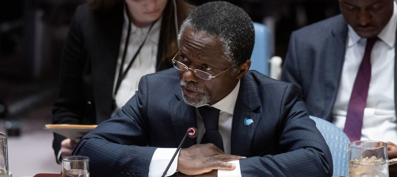 MINUSCA Chief Parfait Onanga-Anyanga briefs the United Nations Security Council on the situation in the Central African Republic. Photo: UN Photo/Eskinder Debebe