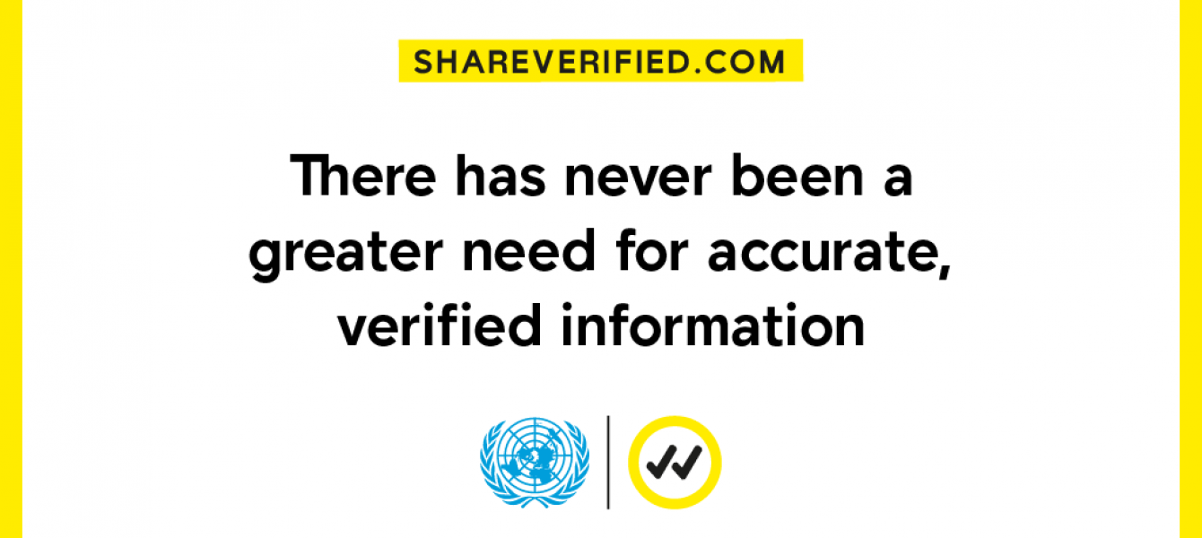 Verified will provide information around three themes:  science — to save lives; solidarity — to promote local and global cooperation; and solutions — to advocate for support to impacted populations