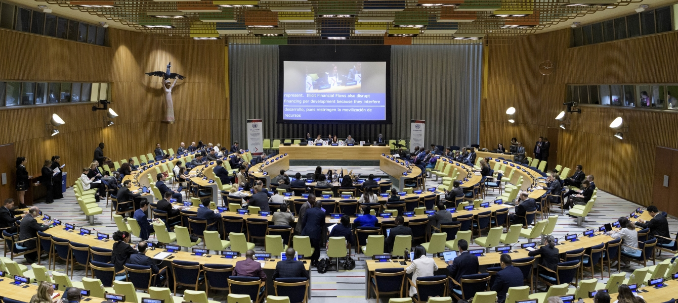 A wide view of the high-level meeting of the General Assembly on International Cooperation to Combat Illicit Financial Flows and Strengthen Good Practices on Assets Return.