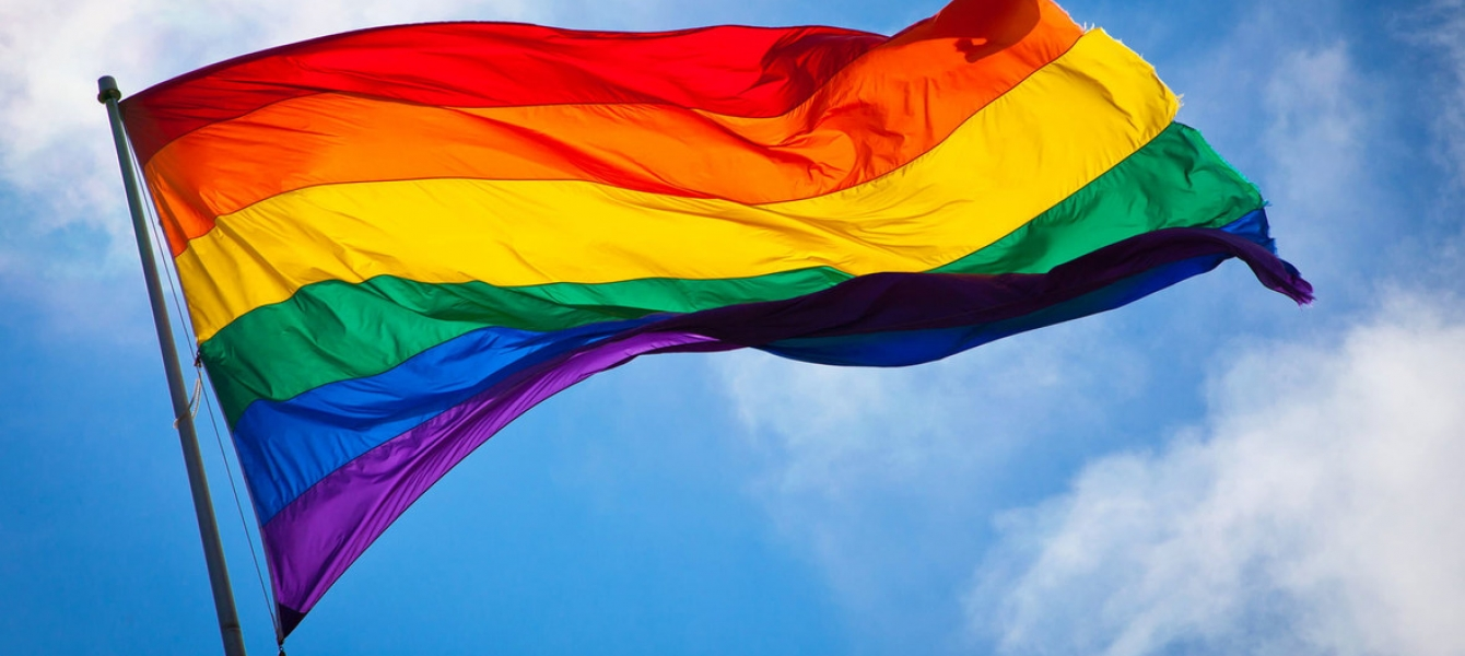 Photo Credits: Benson Kua The rainbow flag waves in the wind at San Francisco's Castro District.
