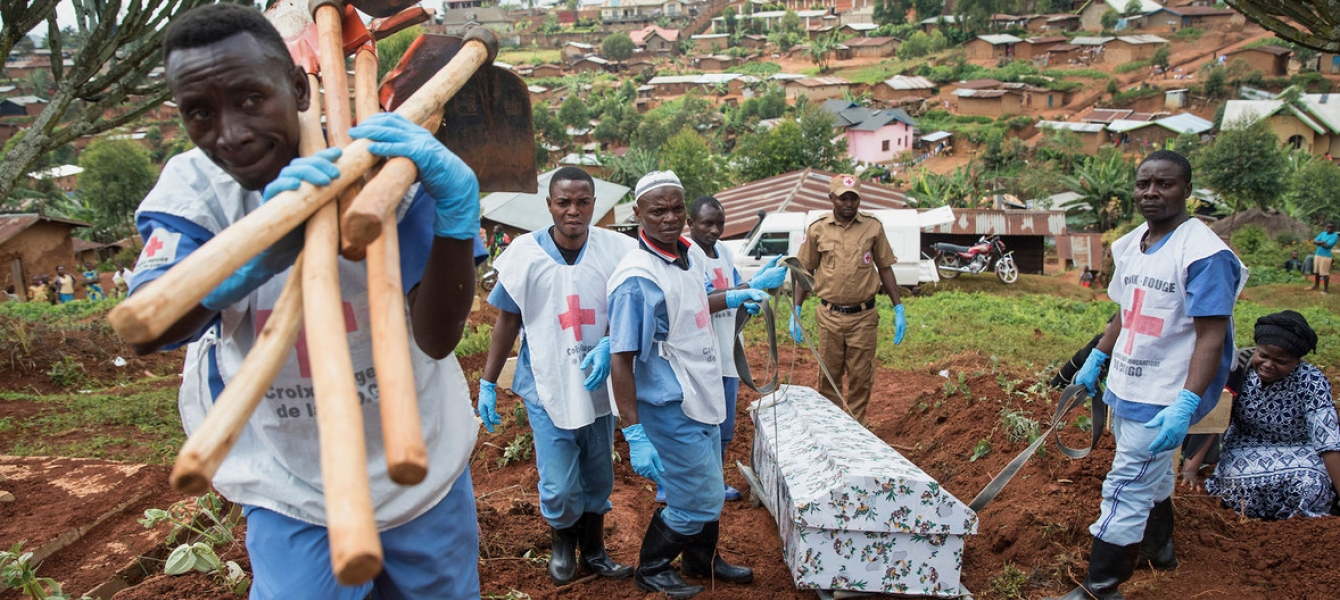 Victims of the Ebola virus disease have been buried at a cemetery in North Kivu province in the Democratic Republic of the Congo.