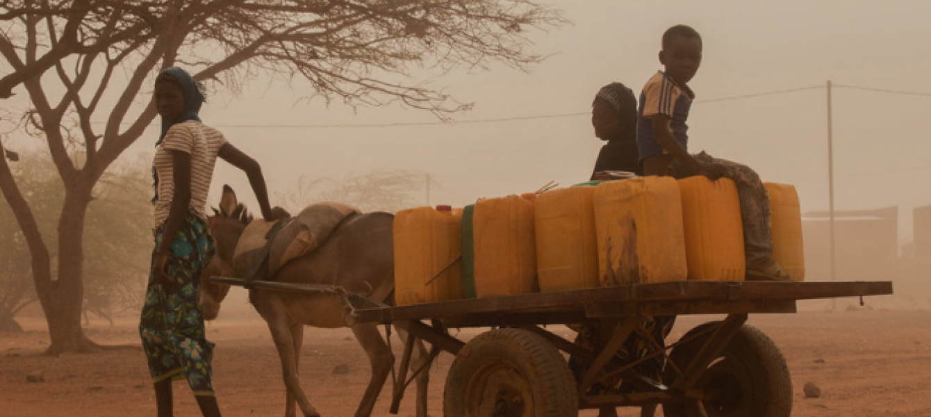 A family goes in search of water in Burkina Faso where more than 950,000 people are severely food insecure, notably in the conflict-hit northern regions. Photo: OCHA/Otto Bakano
