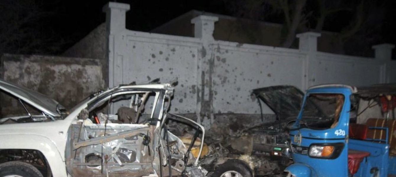 Violent extremists have carried out bombings in the Somali capital of Mogadishu on various occasions. Shown here is the aftermath of a car bomb attack on the city's Banadir Beach hotel on 25 August 2016. Photo Credits: UN Somalia (file)
