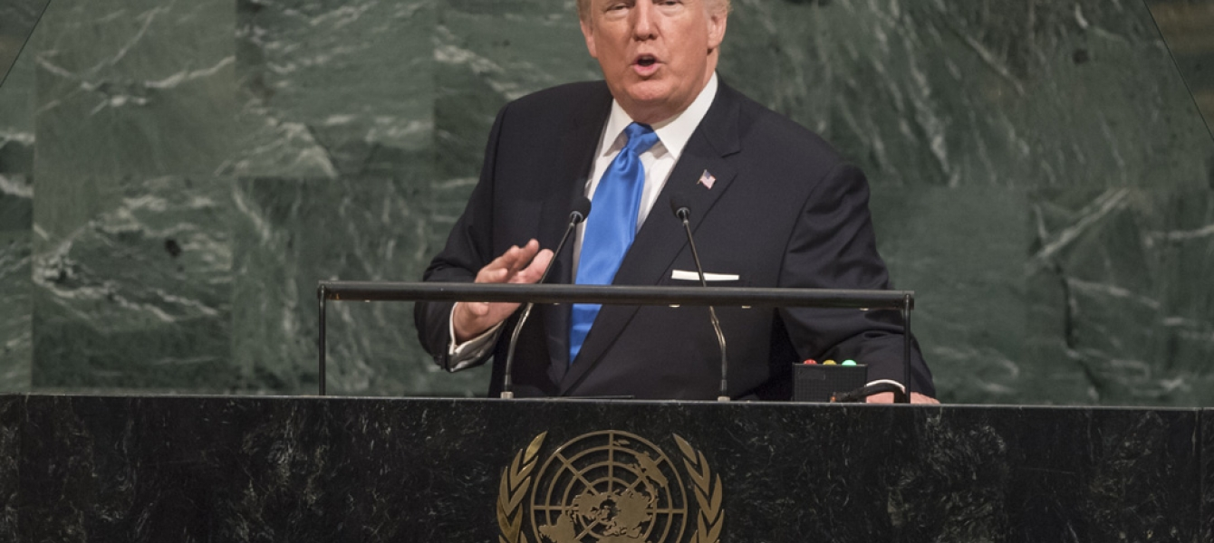 Donald Trump, President of the United States of America, addresses the general debate of the 72nd Session of the General Assembly. UN Photo/Cia Pak