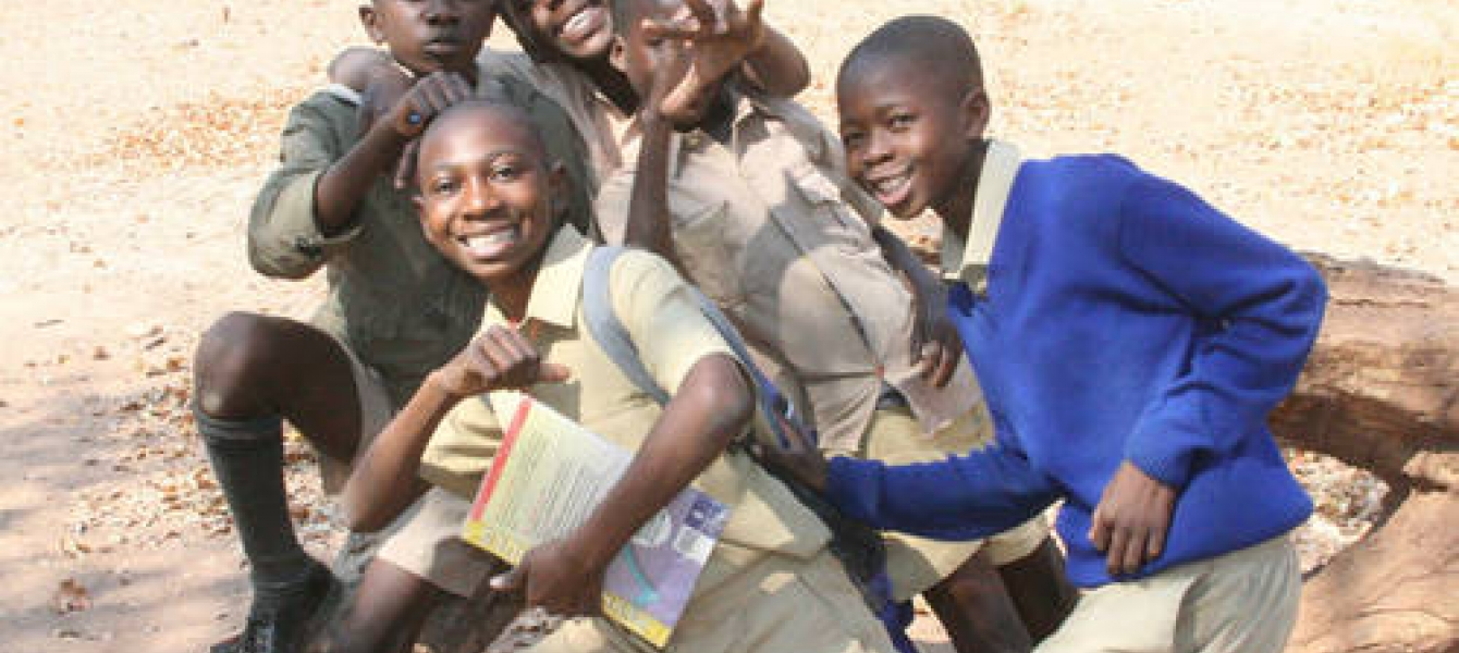 Young students in Zimbabwe