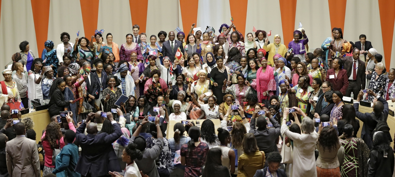 Group picture of participants at the launched of the African Women Leaders Network