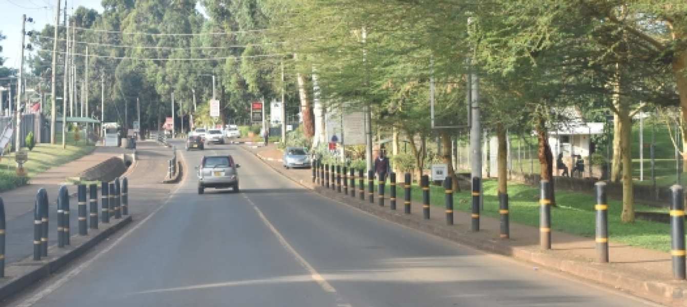 An empty street in Nairobi