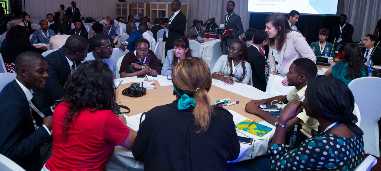 Round table sessions of youth at the Global youth employment forum 2019.