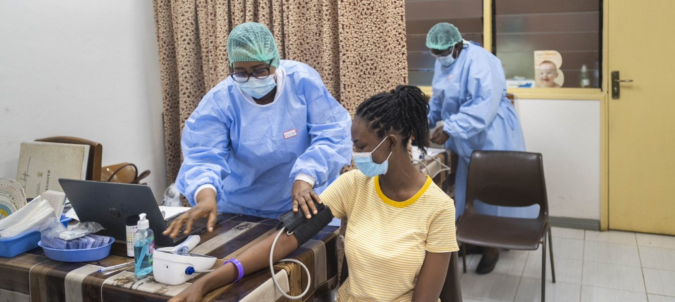 During the COVID-19 pandemic, WHO is supporting the Ghana Health Service in their efforts to ...