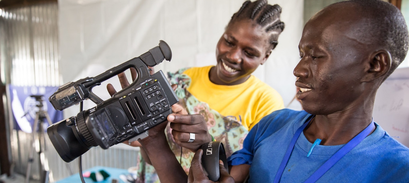 The Global Migration Film Festival took things one step further and directly engaged with migrant communities. The group was then encouraged to explore the equipment and develop their skills through hands on activities (2017).