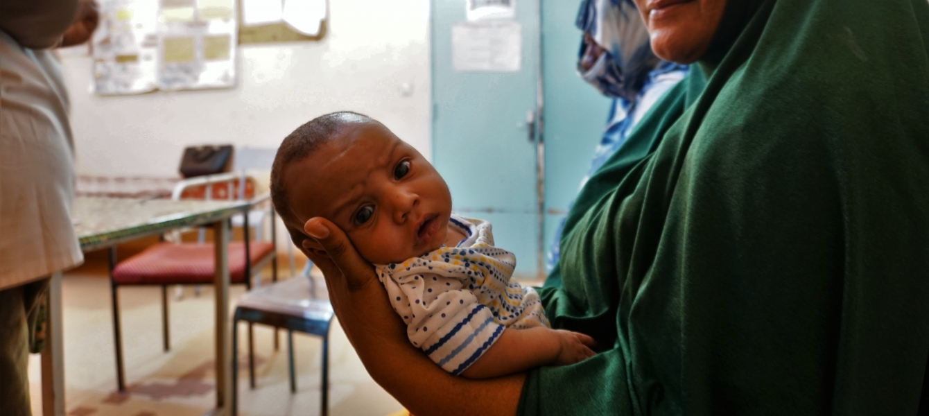 One-month-old Amadou was born at the newly refurbished health centre in Arlit. Photo: IOM/Monica Chiriac
