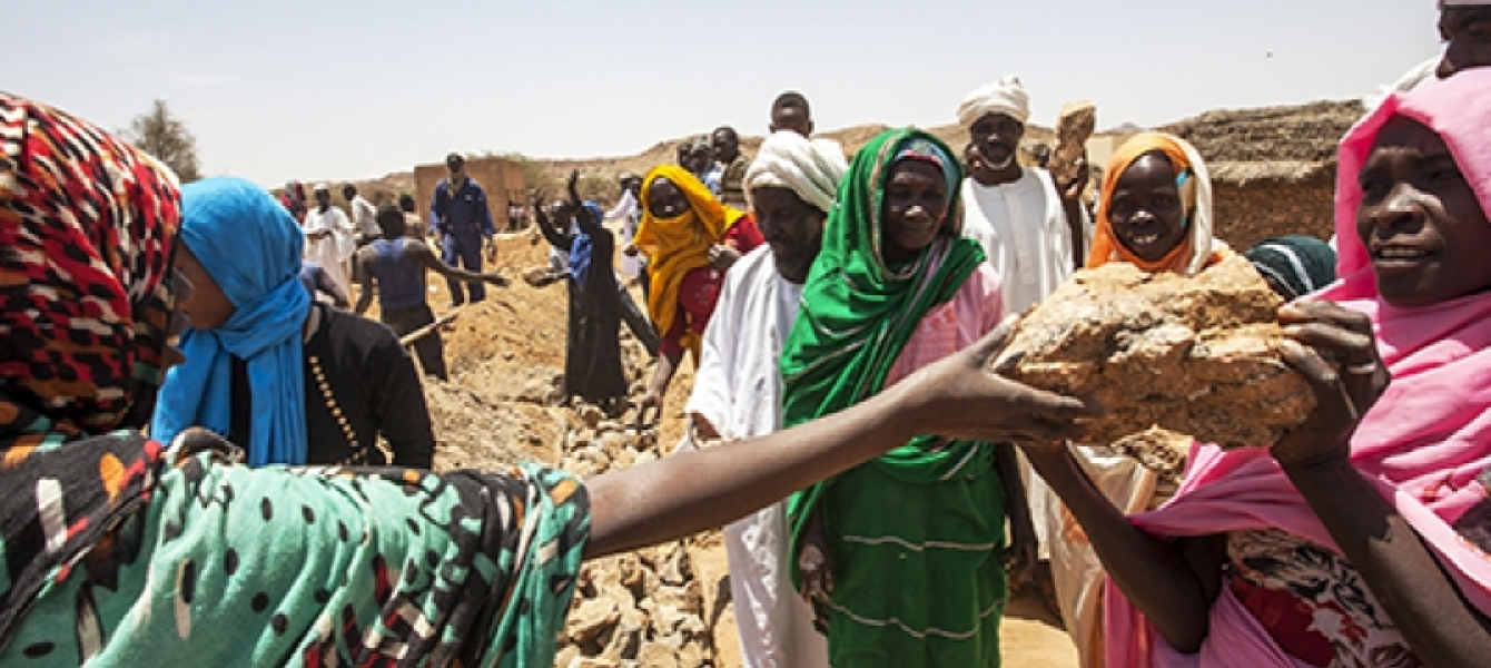 UNAMID launches the rehabilitation project of the Lumbati Basic School. UN Photo: iSeek.
