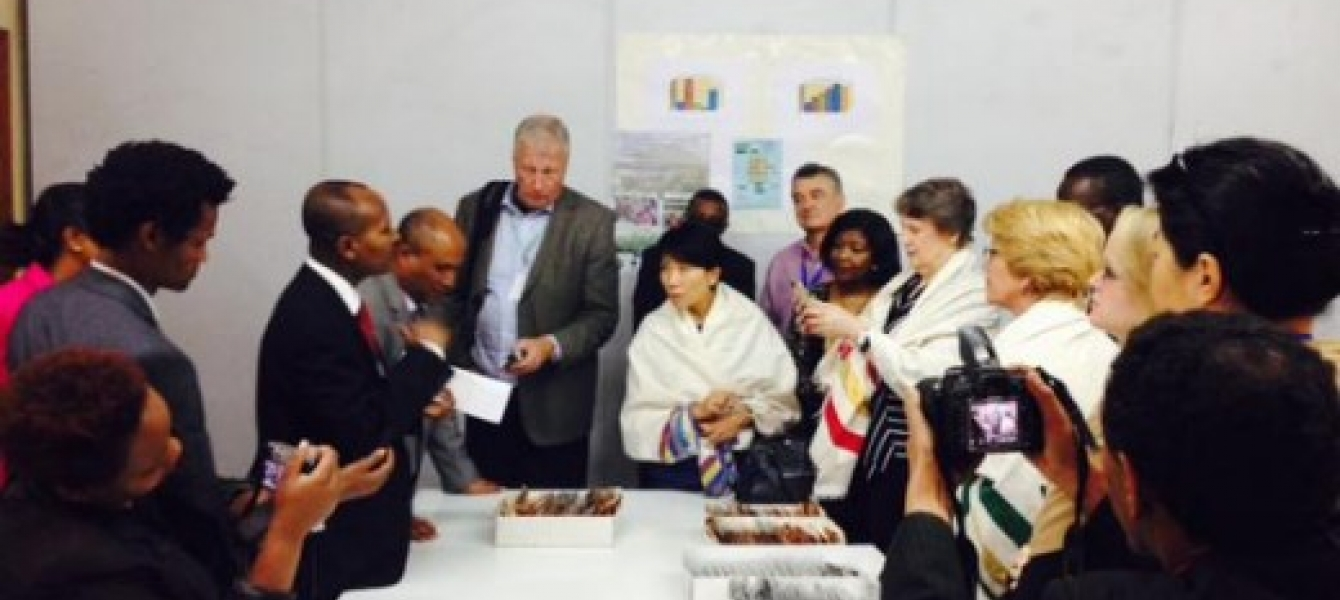 UNDP Administrator Helen Clark and GEF CEO Naoko Ishii visit Africa's largest gene bank. Photo credit: UNDP Regional Service Centre for Africa (Addis Ababa)