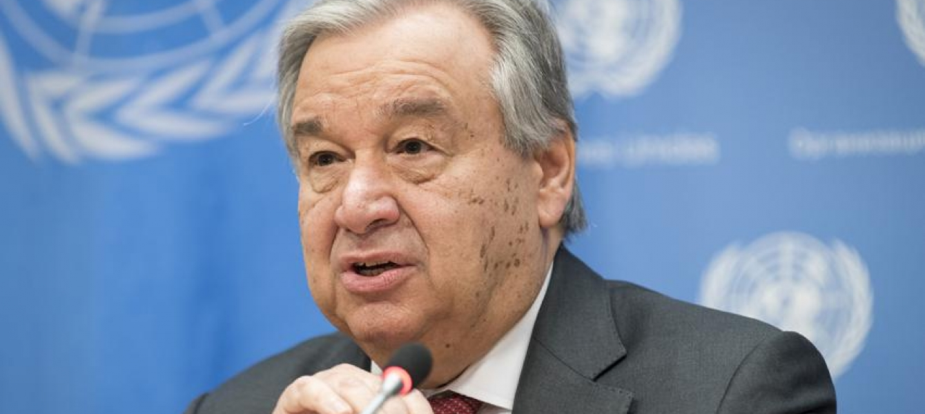 Secretary-General António Guterres briefs reporters in New York.