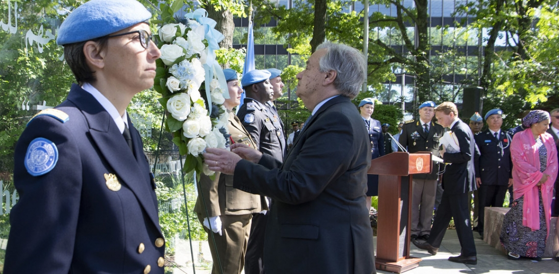 Wreath Laying Ceremony on the occasion of the International Day of United Nations Peacekeepers.