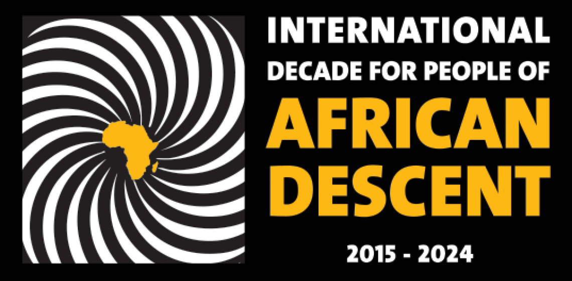 The logo of the International Decade for People of African Descent