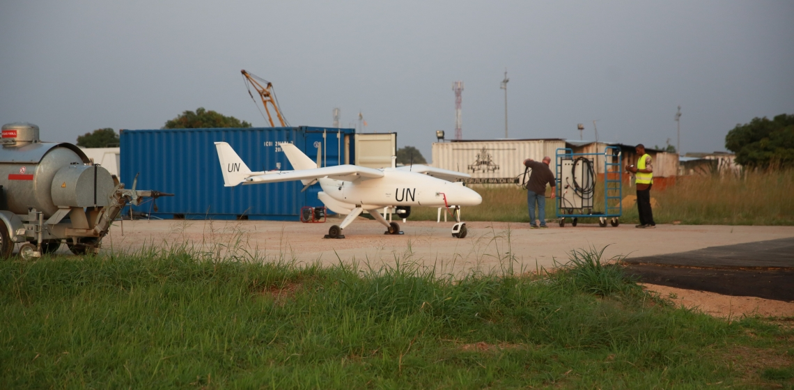 A UN unmanned aerial vehicle in the DRC. Photo: UN Photo/Abel Kavanagh