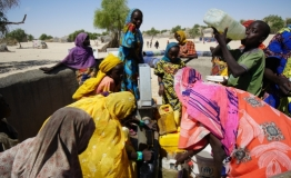 Citizens fetching water from a community borehole in Chad. Photo: UNDP / Jean D. Hakuzimana