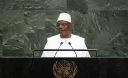 Ibrahim Boubacar Keita, President of the Republic of Mali, addresses the general debate of the General Assembly's seventy-fourth session.