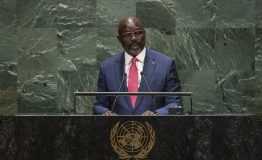 George Manneh Weah, President of the Republic of Liberia, addresses the general debate of the General Assembly's seventy-fourth session.