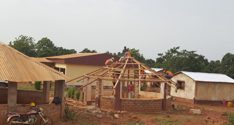 Construction of a COVID-19 isolation centre in Bria, CAR. Part of a MINUSCA CVR project