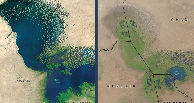 Lake Chad comparison 1972 and 2018