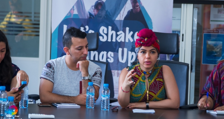 Africa Union Youth Envoy, Aya Chebbi, in discussion with Moroccan youths