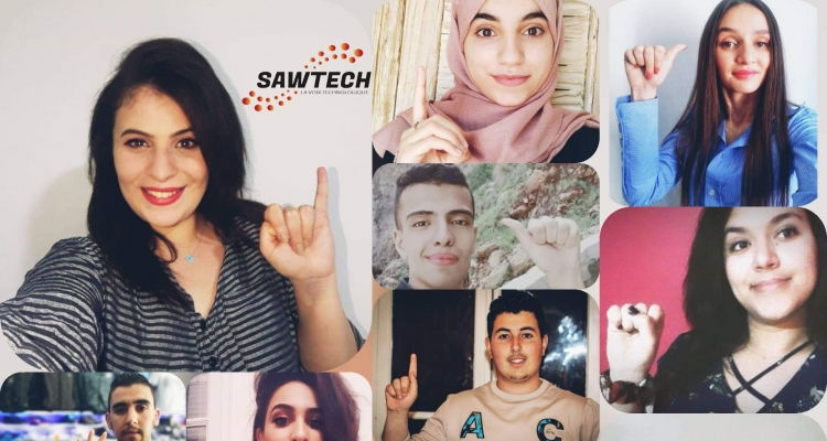 Swatech team aiming at providing a technological solution for people with hearing disabilities. Photo: Imène Chikhi