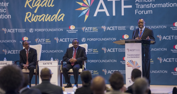Dr. K.Y. Amoako making a remark during the African Transformation Forum.