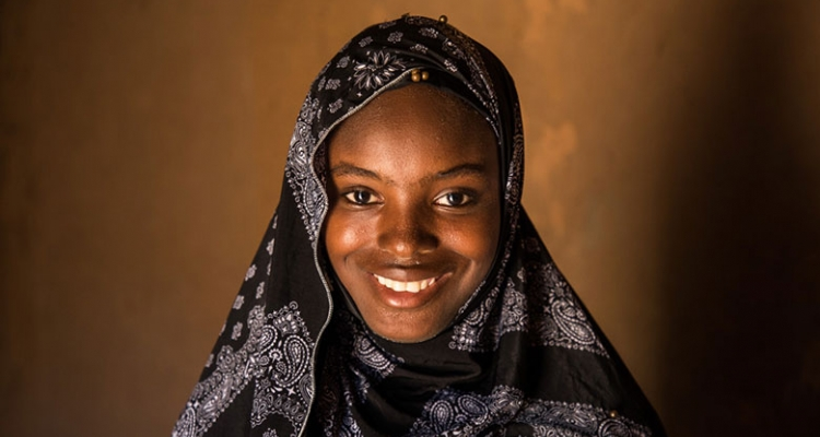Innayatou Souradji is the first girl in her family to go to School.