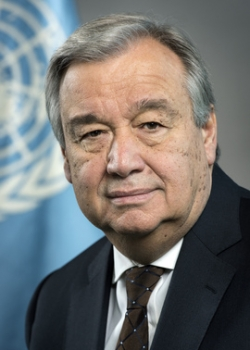 Portrait of United Nations Secretary-General António Guterres