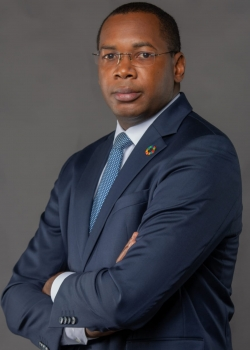 Mr. Tanguy Gahouma Békalé , Special Advisor to the President of the Republic of Gabon, Chair of the African Group of Negotiators on Climate Change , Permanent Secretary of the National Climate Council and General Director of the Gabonese Agency for ...