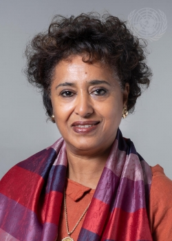 Sophia Tesfamariam Yohannes, Permanent Representative of the State of Eritrea to the United Nations.