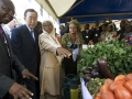 Secretary-General Ban Ki-moon is guided through Mbalmayo, Cameroon, a town where residents are engaged in several projects to further the Millennium Development Goals (MDGs). UN Photo/Eskinder Debebe