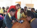Students learn with tablets in a school in South Africa. Photo:  AMO/Jackie Clausen