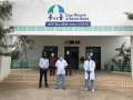 Doctors from Hôpital Régional d'Arta in Djibouti wearing 3D-printed face shields.