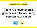 Verified will provide information around three themes:  science — to save lives; solidarity ...