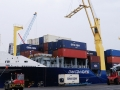 Shipment containers at Tunisia port