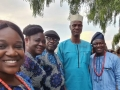 Mr. Ajao at a local ceremony with some Ekpoma residents. Right is Dr. Okhilua.