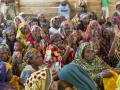 Women at a meeting held at the UN Women multipurpose centre in the Ngam refugee camp, Cameroon